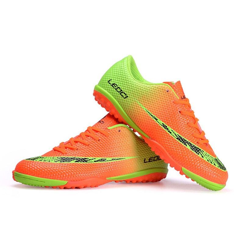 Homens tf chuteiras botas de futebol indoor leoci meninos alta qualidade pu  flexível futsal chuteiras athletic trainers sneaker 33 44 s42 em Sapatos de  ... b76f61cf4a224