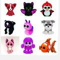 1 Pc Hot Vaias Ty Gorro Olhos Grandes Gato Cão Pequeno pinguim de Brinquedo de Pelúcia Boneca Kawaii Bichos de pelúcia Coleção Encantadoras das Crianças presentes
