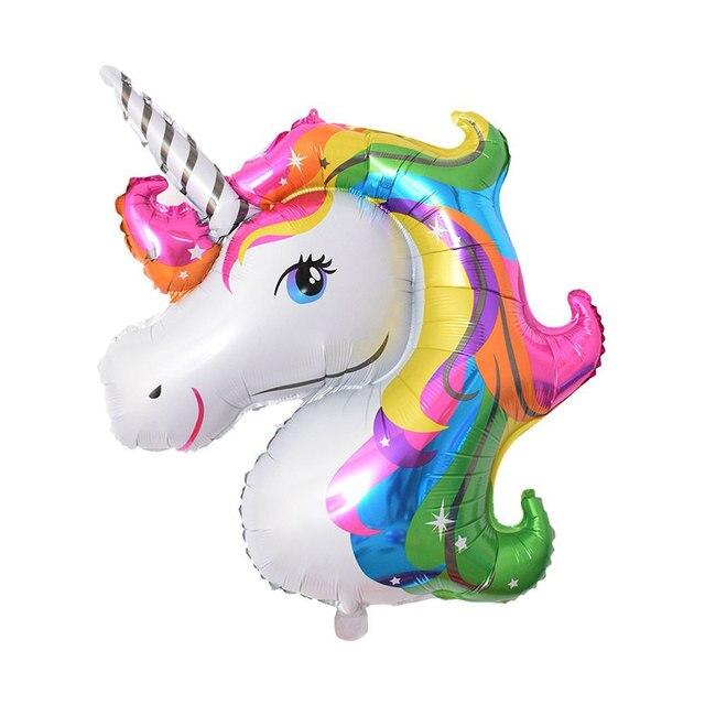 ZLJQ 1 Pcs 16 Inch Cartoon Cute Unicorn Foil Balloon Party Supplies