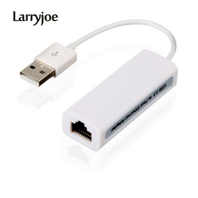 Larryjoe USB 2.0 to fast Ethernet 10/100 RJ45 Network LAN Adapter Card Dongle 100Mb Free / Drop Shipping