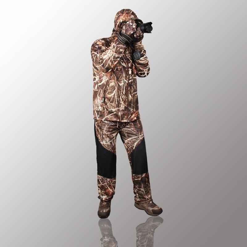 Extérieur jungle camouflage chasse vêtements bionic costume respirant protection solaire vêtements pêche vêtements chasse ghillie costume - 3
