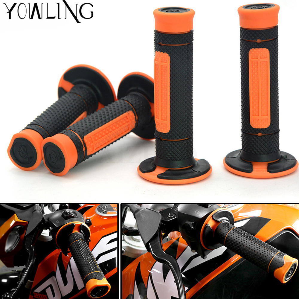 2 Pairs Motorcycle Handlebar Grips Hand Grips Handle Bar Grip Pit Dirt Bike For KTM 300 EXC SIX DAYS 2014 2015 2016 motorbike 1 1 8 handlebars 28mm pro taper fat bars grips cnc bar risers bar pad for dirt bike pit bike motocross motorcycle