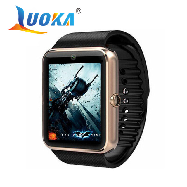 imágenes para Gt08 luoka bluetooth smart watch smartwatch para iphone 6 7 plus samsung s4/note 3 htc android smartphones teléfonos android wear