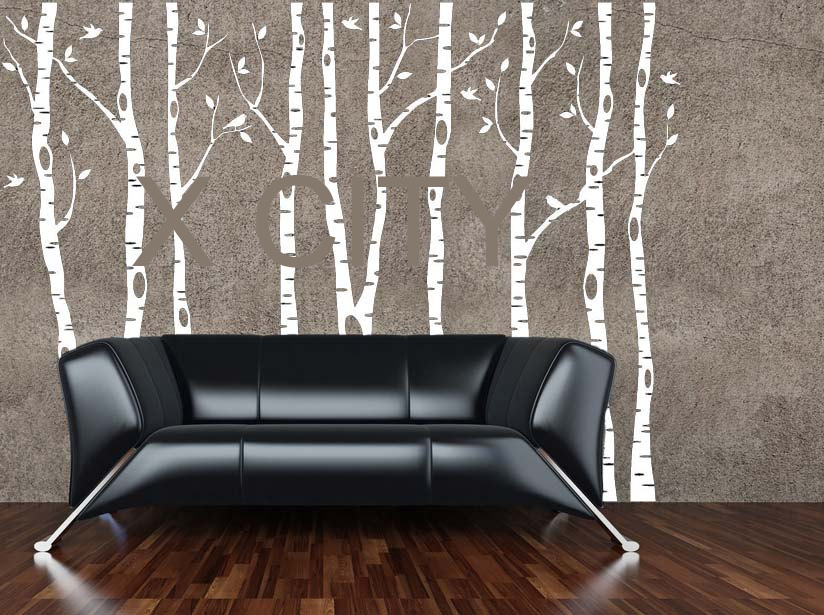 Nice Aliexpress.com : Buy Birch Aspen Trees Birds Forest Wall Art Stickers  Removable Vinyl Decals Transfer Stencil Nursery Graphic Mural Home Room  Decor From ... Part 23