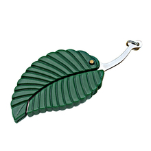 1pcs Green Mini Fold Leaf Shape Pocket Knife Folding Keychain Outdoor Camp camping equipment