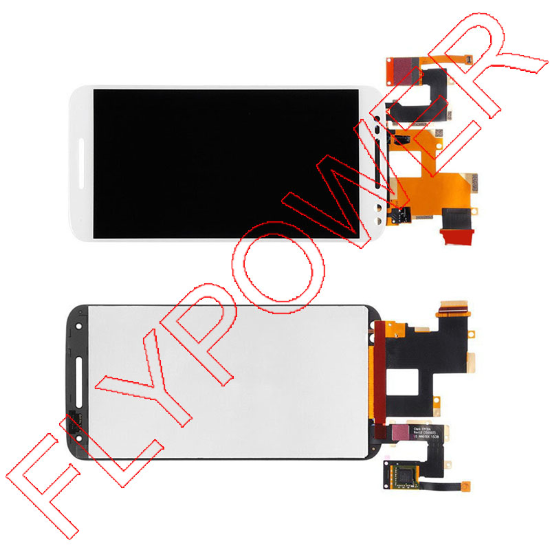 White For motorola Moto X Style X3 XT1575 XT1572 XT1570 LCD Display + Touch Panel Digitizer Assembly Free Shipping