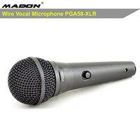 Envío Gratis  nuevo producto PGA58-XLR calidad AAA de grado  micrófono de karaoke PG ALTA 58 con interruptor de encendido/apagado  micrófono con cable dinámico