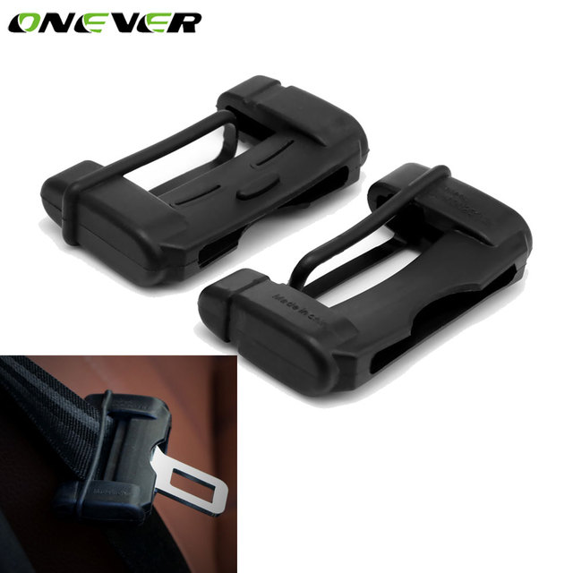 2pcs Universal Car Safety Belt Buckle Covers Anti Scratch Silicon Seat Protector Interior