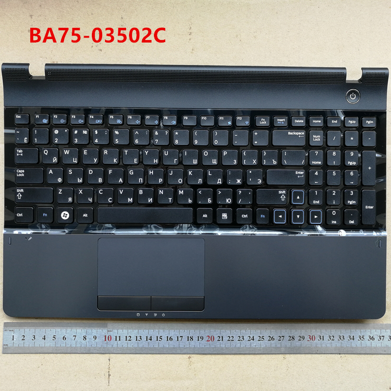 Russian New RU Laptop Keyboard with touchpad Palmrest For Samsung 300E5C NP300 NP300E5A 300E5A 305E5A Black BA75-03502C 15 цена