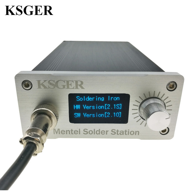KSGER הלחמה תחנת DIY ערכת STM32 2.1S OLED 1.3 תצוגת טמפרטורת בקר דיגיטלי אלקטרוני ריתוך ברזל T12 ברזל טיפים