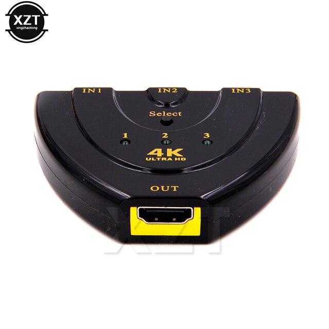 Lower price Mini 3 Port HDMI Switch HDMI Splitter 3D Three 4K HD video switcher 1.4b 4K Switcher HDMI Splitter HDMI 4K Switcher