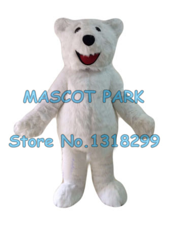 mascot polar bear mascot costume adult size long plush white polar theme anime cosplay costumes carnival fancy dress kits