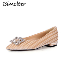 Bimolter Women Flats Velvet Flat Shoes Casual Pointed Toe Women Loafers Ballet Flats Mocassins Slip On Brown Black Shoes NB024 все цены
