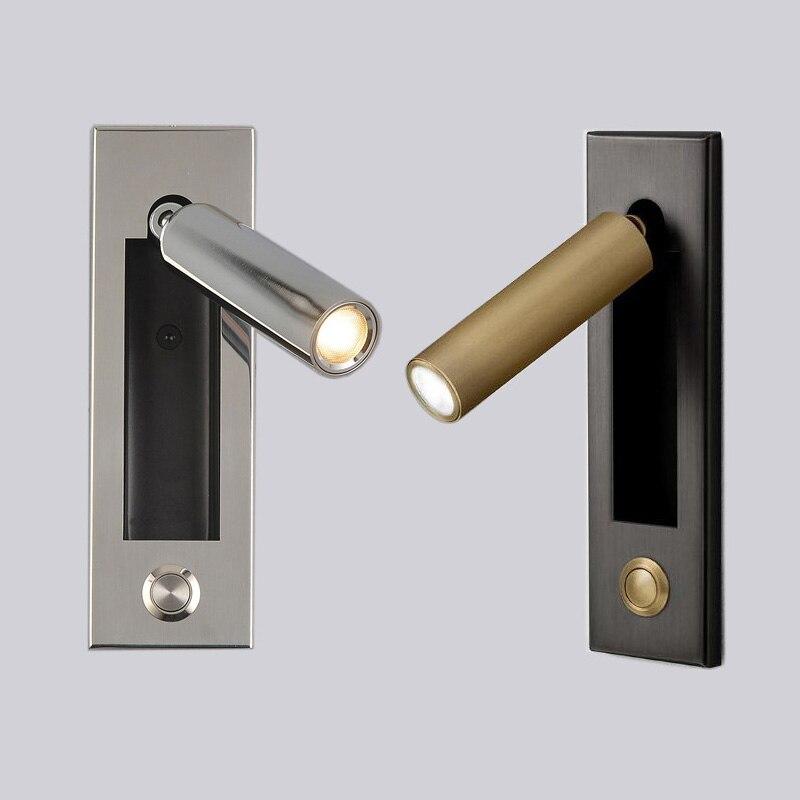 3W LED Wall Sconce Light Adjustable Bedside Lamp Fixture ...