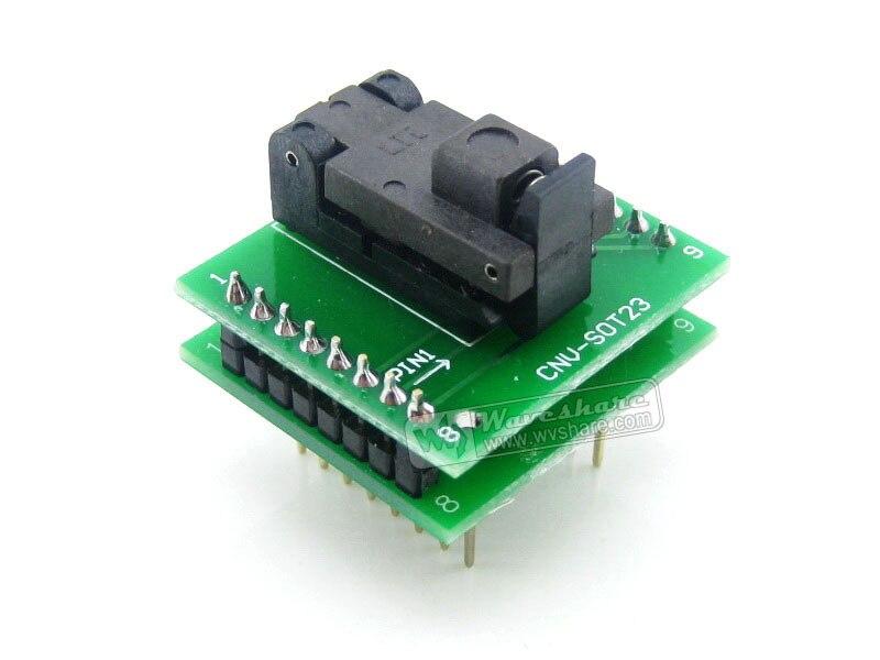 ФОТО SOT6 TO DIP6 (B) Wells IC Programming Socket Adapter 0.95mm Pitch