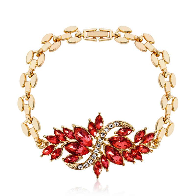 5fe9b5e34289b SHUANGR Filled Red/Green/Purple/ blue/Black Crystal Chain Bracelet Women  Girls Hand Fashion Jewelry Gift
