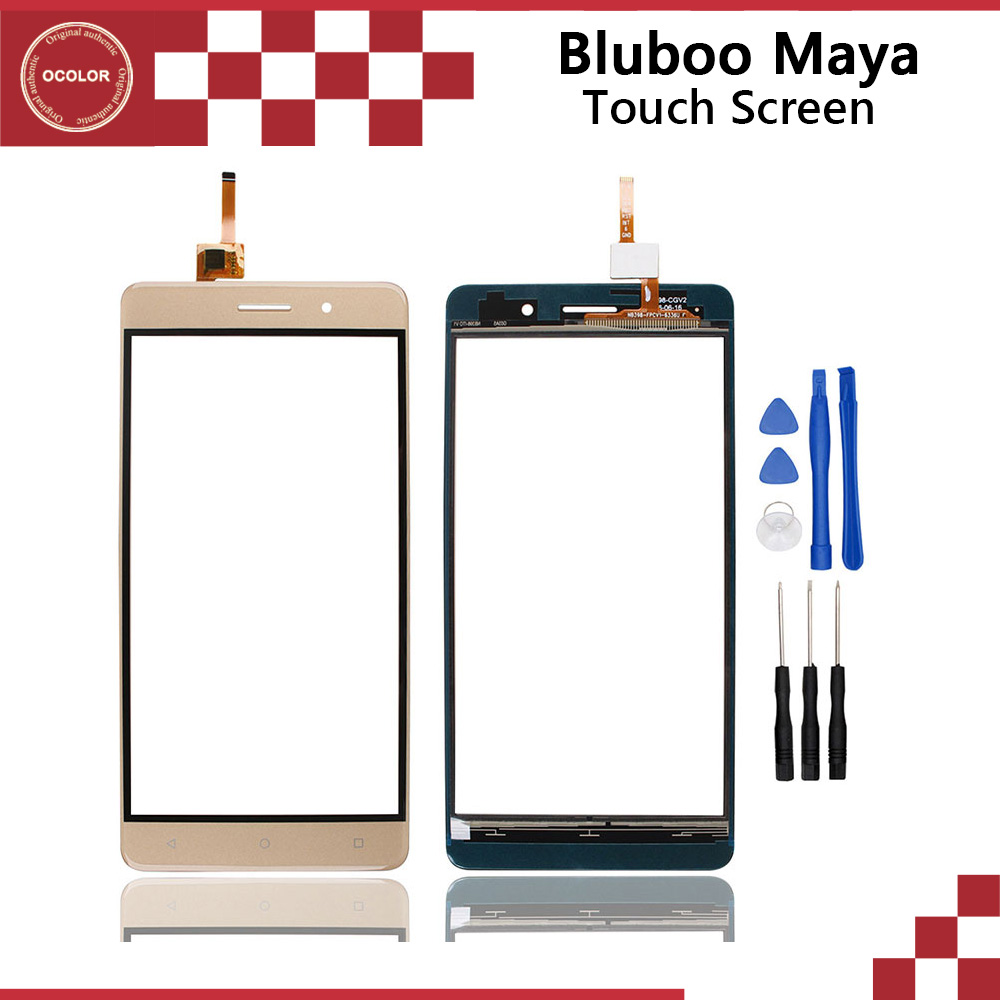 ocolor For Bluboo Maya Touch Panel Touch Screen Digitizer Sensor Replacement For Bluboo Maya Mobilephone Accessories With Tools