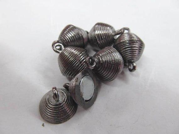 50 pcs 6x12mm métalfermoir connecteurs laiton fermoir, riz, baril, colonne fermoir argent or - 5