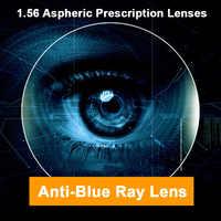 1,56 Anti-Blue Ray Einzigen Vision Männer und Frauen Optische Linsen Rezept Vision Korrektur Linsen für Digitale Geräte