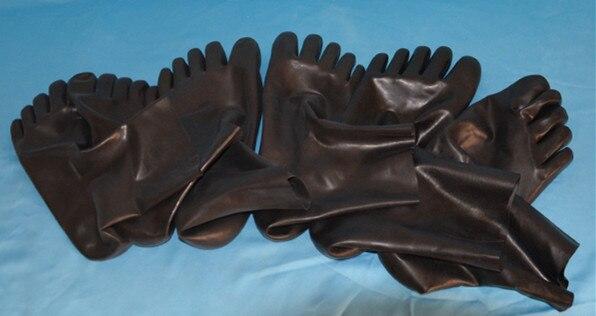 Unisex latex fetish sock rubber 5 toes socks short sock Skin toes size S,M,L