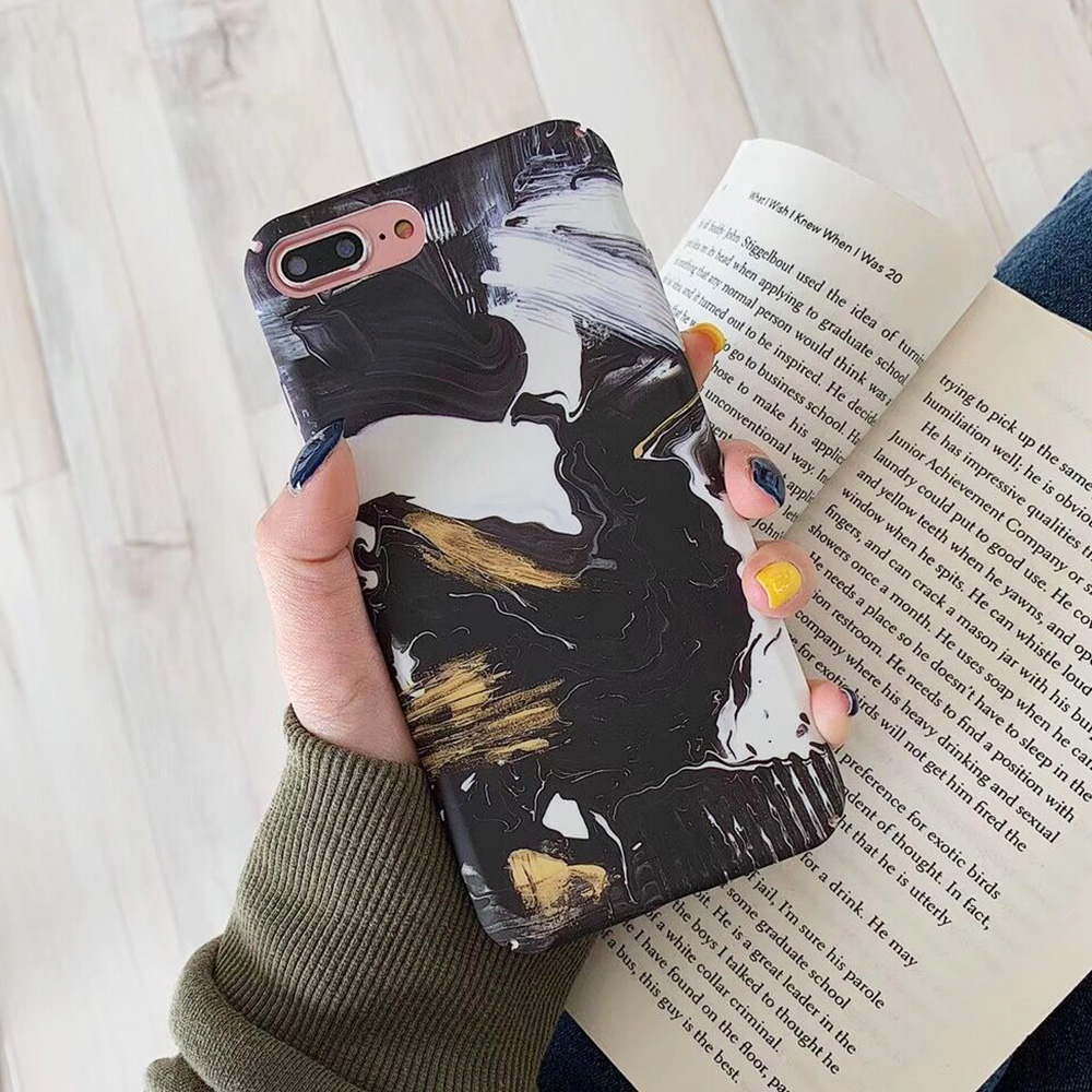 KIPX1093_10_JONSNOW Marble Pattern Phone Case for iPhone XS XR XS Max 7 8 Plus 6S 6 Plus Case Fashion All-inclusive PC Hard Back Cover Capa Fundas