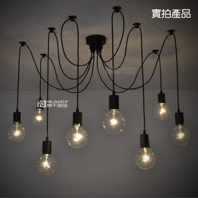 10 Lights Remote Control Edison Bar Club Ceiling Light 110V Or 220V Spider Cafe Coffe Shop