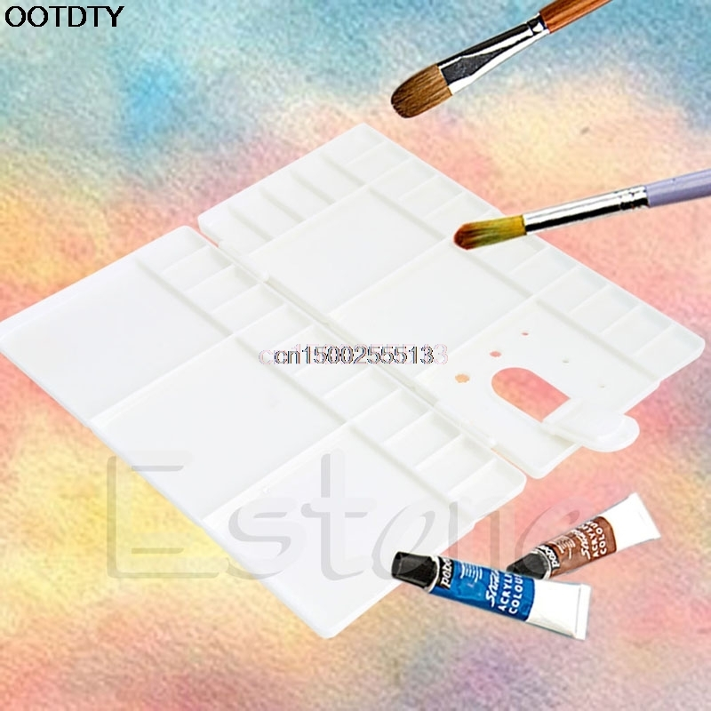 Palette 33 Grids Large Art Paint Tray Artist Oil Watercolor Plastic Palette White New paint palette color mixing tray drawing utensil