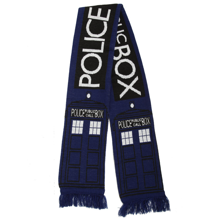 Blue Scarf Doctor Who Tom-Baker Winter Women Autumn Fashion And Hat Police-Box Fourth
