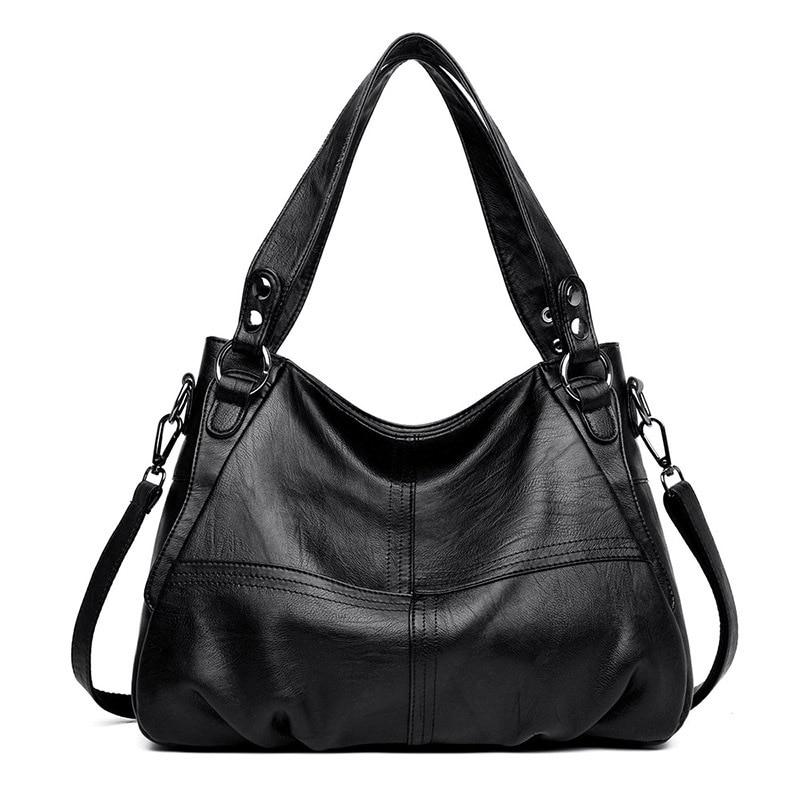 Women's Genuine Leather Handbag Ladies bags Large Leather Designer Big Tote Bags for Women 2019 Luxury Shoulder Bag Handbags