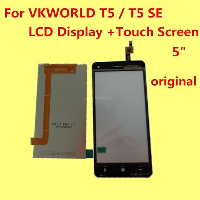 """Para T5 T5 VKWORLD SE Display LCD + Touch Screen + Ferramentas 100% Originais Acessórios de Substituição do Conjunto Digitador Para O Telefone 5"""""""