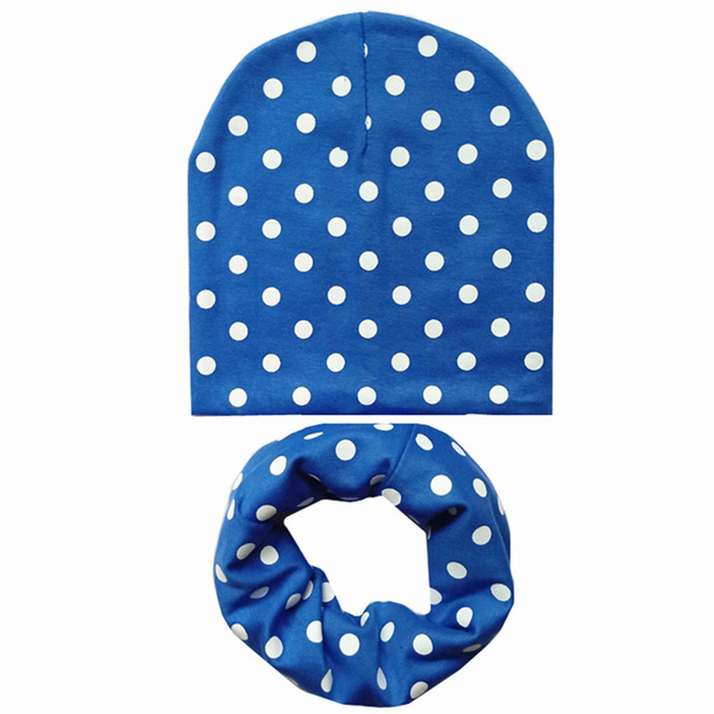 Fashion Autumn Winter Baby Cap Set Baby Head Cover Spring Warm Neck Collar Kids Beanies Hats Sets Cotton Children Hat Scarves