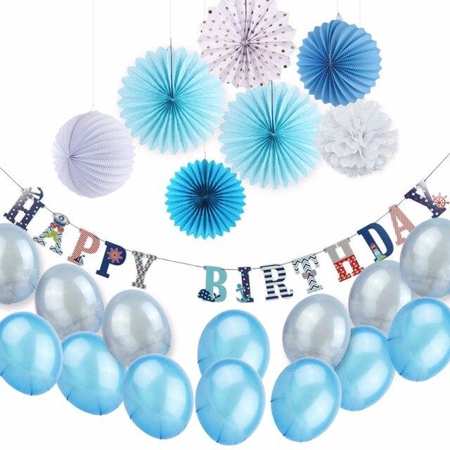 Szczęśliwy Urodziny Dekoracje Stołu Ogrodnicze Dzieci Chłopiec Morze