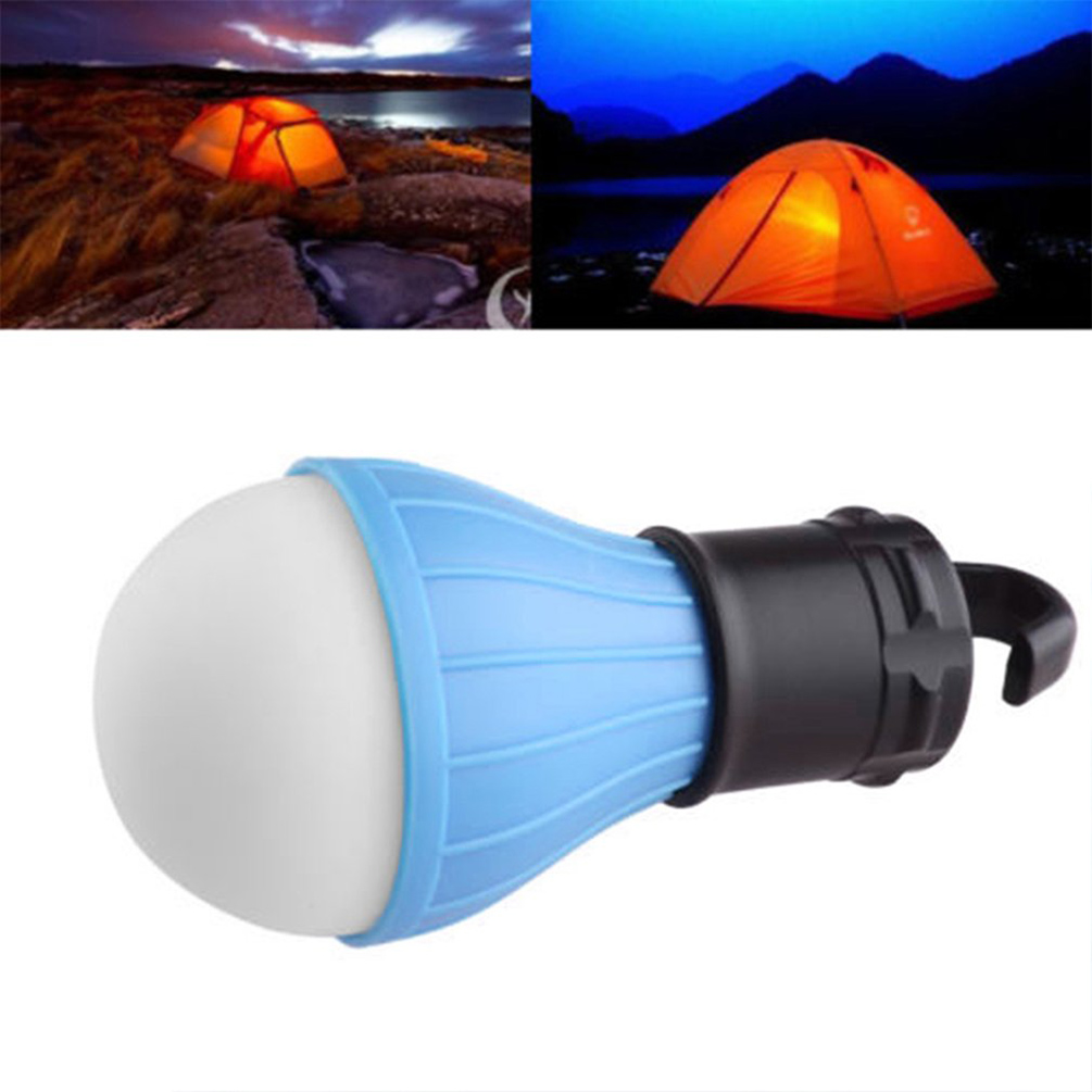 LEDGLE Mini Portable Lantern Compact Camping Lights Functional LED Bulb Battery Powered Tent Light 4 Colors Hook Flashlight ...