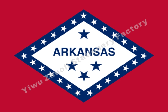 U.S. State <font><b>Arkansas</b></font> Flag 3X5FT 100D Polyester Free Shipping image