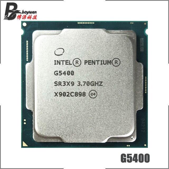 Intel Pentium G5400 3.7 GHz Dual Core Quad Thread CPU Processor 4M 54W LGA 1151
