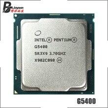 인텔 펜티엄 g5400 3.7 ghz 듀얼 코어 쿼드 스레드 cpu 프로세서 4 m 54 w lga 1151