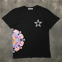 New Baolideng 2017 Men Color Retro Geometry Star Peacock T Shirts T Shirt Hip Hop Skateboard Street Cotton T Shirts Tee Top #E3