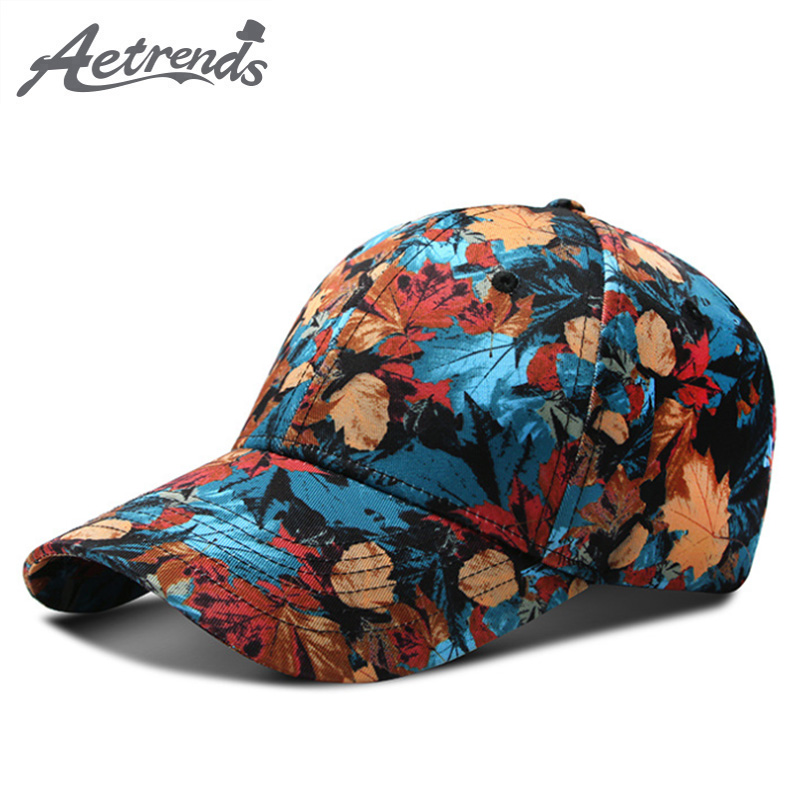 [AETRENDS] 2019 New Spring Summer 3D Floral Print   Baseball     Cap   Men Women Outdoor Sport Male Hats and   Caps   Z-6826