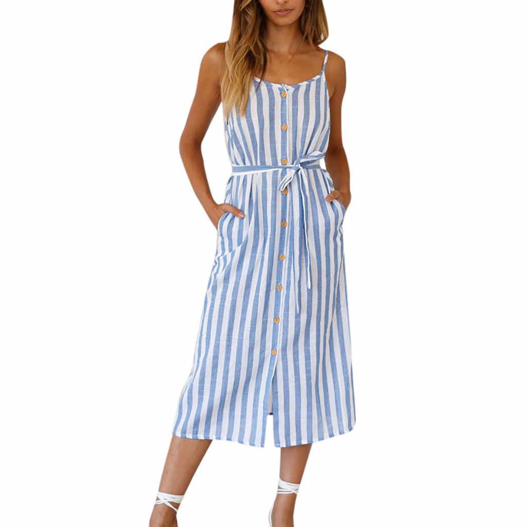 Женское платье без рукавов в полоску в стиле бохо, с круглым вырезом, для вечеринок, сарафан, вечернее платье, для вечеринок, Клубное, яркое, Mid saia # XX