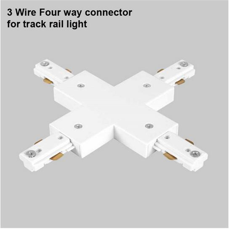 3 wire four way track light rail connector track fitting led track rail connector track connectors cheap contemporary lighting