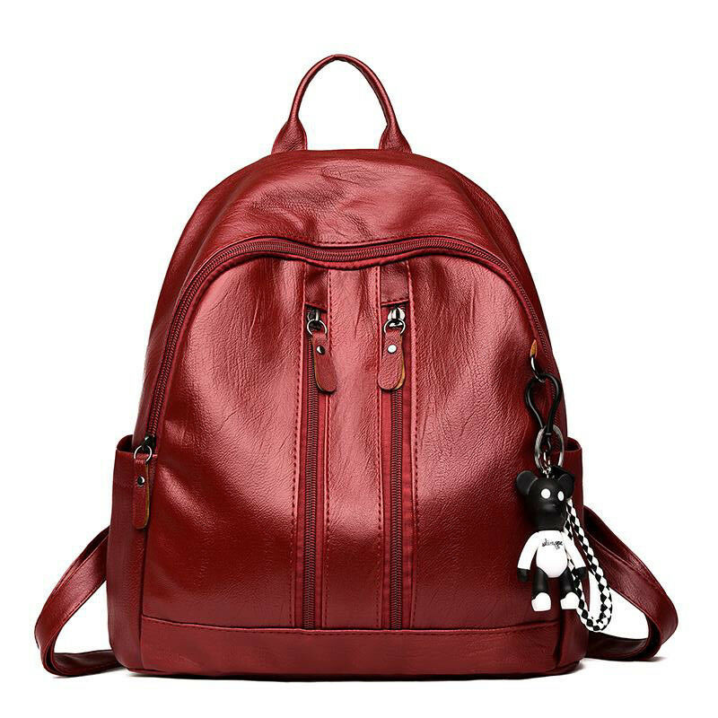 Fashion Women Lady School Leather Girls Backpack Travel  Shoulder BagFashion Women Lady School Leather Girls Backpack Travel  Shoulder Bag