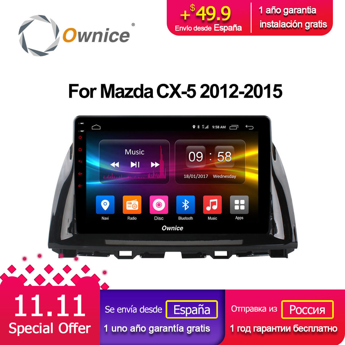 Ownice C500+ G10 10.1 Octa Core Android 8.1 Car Radio GPS DVD for Mazda CX-5 2012 2013 2014 2015 Support 4G LTE Network DAB+ ownice c500 g10 octa core 2gb ram 32g rom android car dvd 8 1 gps for mazda 6 summit 2009 2015 wifi 4g lte radio dab dvr