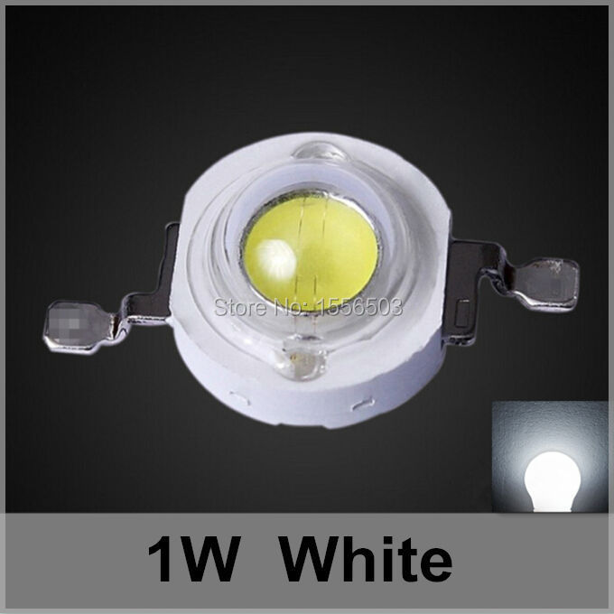200Pcs LED Lamp Chip Beads 350ma 1W White High Power LEDs Ball Light Source 90LM 120LM Cool Pure White Cold White Emitting Diode