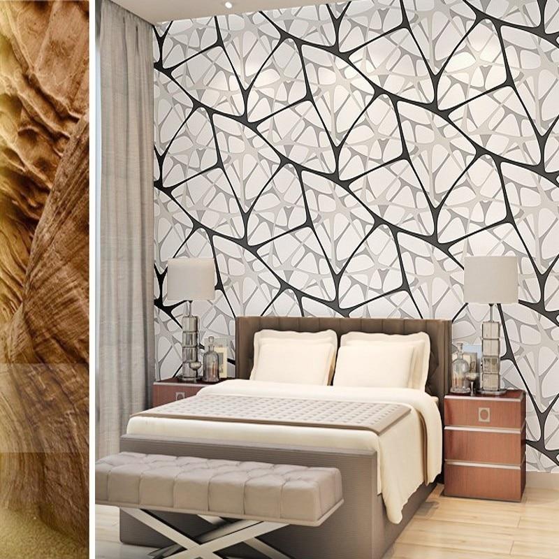 Livraison gratuite 3D stéréo non-tissé noir blanc oiseau nid eau cubique papier peint chambre salon TV toile de fond papier peint