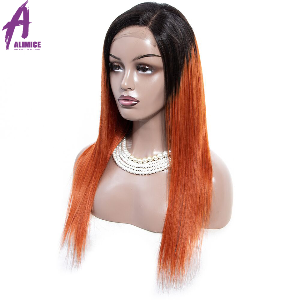 Alimice 180% Density Lace Front Human Hair Wigs Remy PinkGreenRedBlueOrange Brazilian Straight Lace Wigs With Pre Plucked (2)