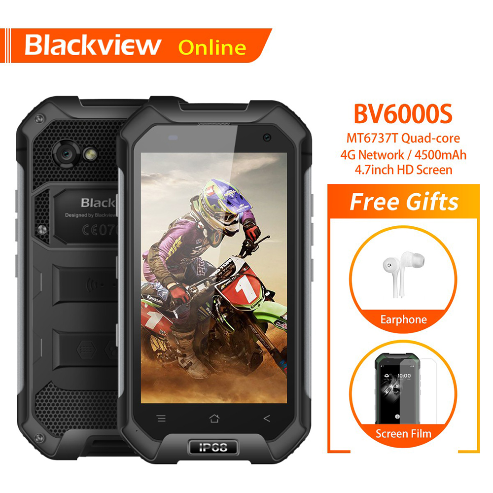 """Blackview BV6000S Original 4.7"""" IP68 Waterproof Rugged Mobile Phone 2GB+16GB 13.0MP 4500mAh Dual SIM 4G Tough Outdoor Smartphone-in Cellphones from Cellphones & Telecommunications"""