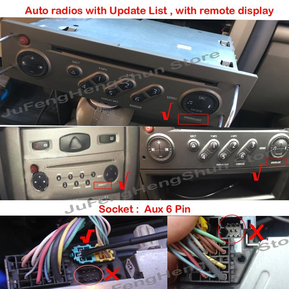 Cable AUX LAGUNA 3 AUTORADIO UPDATE list