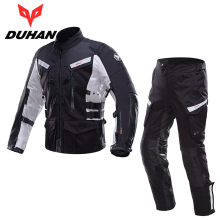 DUHAN Professional Men Motorcycle Jacket Pants Sets Waterproof Motorcycle Riding Suits Motocross Off-Road Racing Clothing