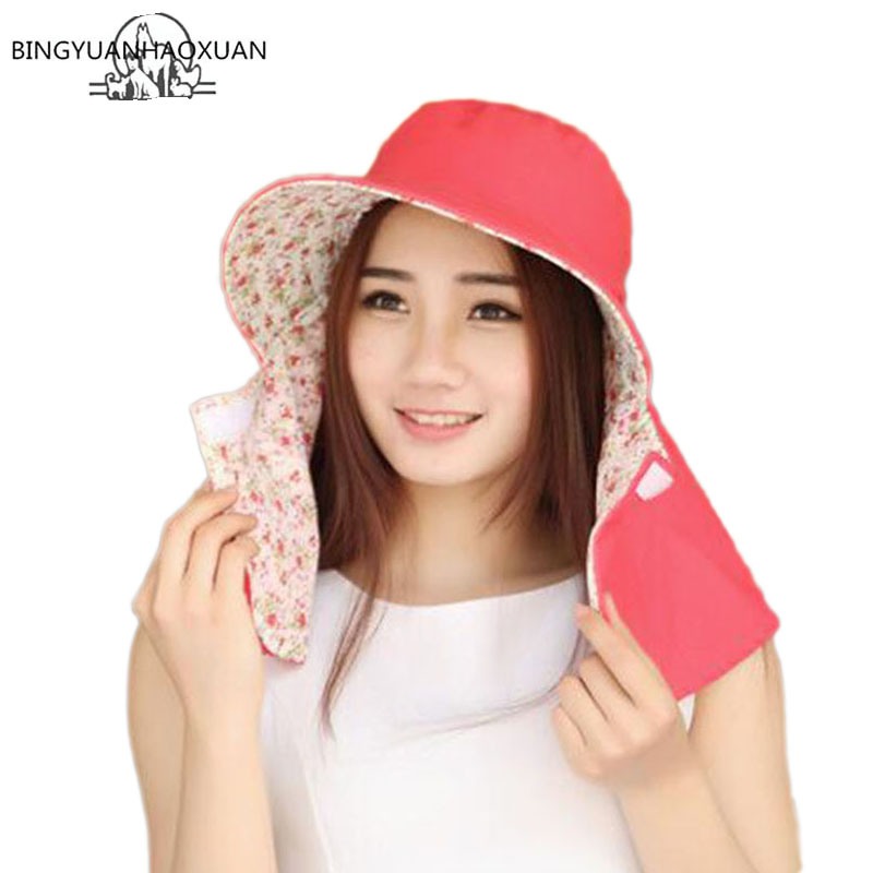 BINGYUANHAOXUAN Outdoor Sun Hat UV Protection Hat Fishing Cap Bucket Hats Unisex Sunhat For Beach