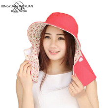 BINGYUANHAOXUAN Outdoor Sun Hat UV Protection Hat Fishing Cap Bucket Hats Unisex Sunhat For Beach unisex summer sun hat sun protection foldable hat riding cap outdoor hunting fishing cap hat for cycling running daily sports